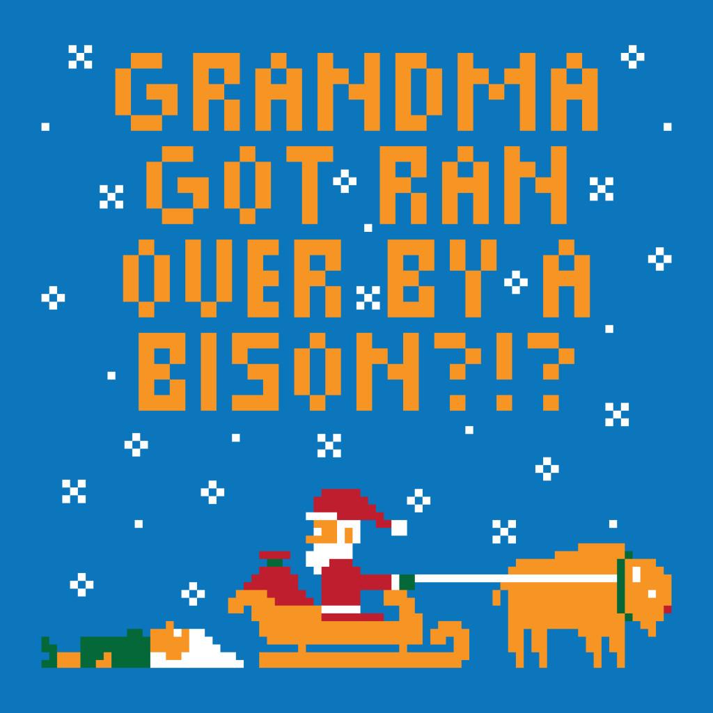 Grandma Got Ran Over Ugly Christmas Sweater   Randy Was Here