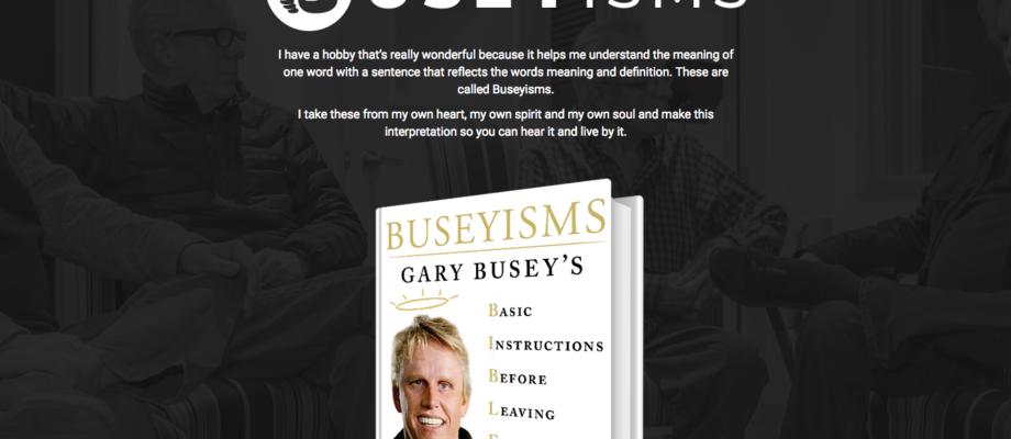 "Gary Busey's ""Buseyisms"" Logo"
